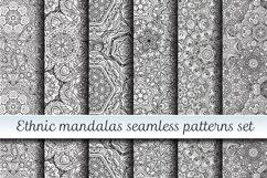 Ethnic mandalas black and white seamless patterns Product Image 1