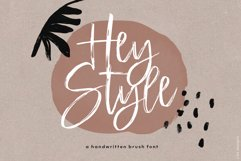 Hey Style - A Handwritten Brush Font Product Image 1
