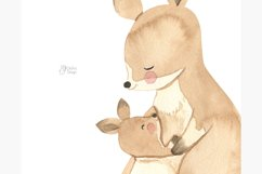 Australian animals clipart. Watercolor mother and baby. Product Image 5