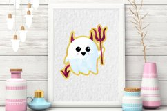 Cute Halloween Clipart, Halloween clipart, ghost clipart Product Image 4