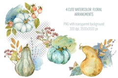 Hello Autumn. Watercolor arrangments and cards Product Image 2