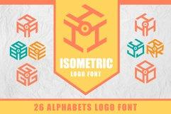 3D Isometric Logo Font Product Image 1