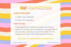 Content Planner Printable - Social Media Planning Template Product Image 3