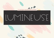Lumineuse - A Thin Handwritten Font Product Image 1