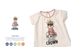 Fox SVG   Inspirational SVG   Wear Your Crown Product Image 1