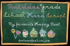Matildas Grade School Hand_Script Product Image 3