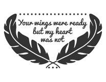Your wings were ready svg, your wings were ready but our hearts were not svg, your wings were ready but my heart was not svg, svg files, svg Product Image 3