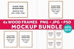 Wood Frames Mockup Bundle, Poster Mockup Digital Frames Product Image 1