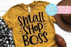 Small Shop Boss Entrepreneur SVG DXF EPS PNG Cut File Product Image 1