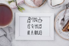 Teashop Font With Tea Inspired Doodles Product Image 6