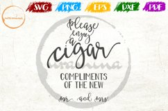 Please Enjoy A Cigar Wedding Quote Sign Art Product Image 1