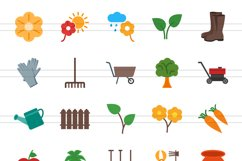 50 Gardening Flat Multicolor Icons Product Image 2