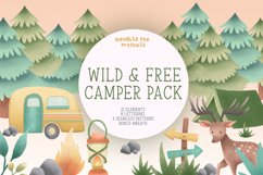 Wild and Free Camper Clipart Pack Product Image 1