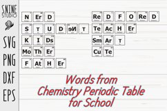Chemistry Periodic Table Words for School SVG Cut File Product Image 1