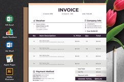 Modern Auto Calculation Invoice Template Excel Apple Numbers Product Image 1