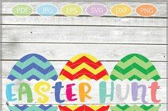 Easter Eggs monogram SVG, Split Easter Eggs, Egg Cut file Product Image 2