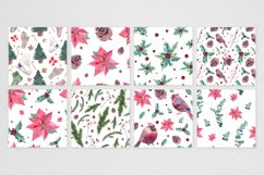 Watercolor Christmas seamless patterns Product Image 2