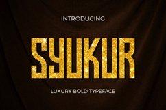 Web Font Syukur Product Image 1