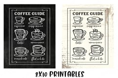 Coffee Bar - Guide Cheat Sheet - Farmhouse Kitchen Sign SVG Product Image 6