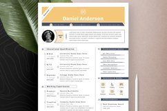 Resume Cv Template With Editable Word Apple Pages Format Product Image 5