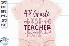 Fourth Grade Teacher SVG | Teacher Shirt SVG Product Image 1