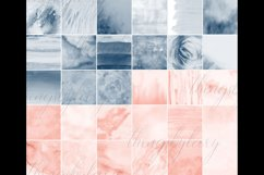 30 Ombre Sapphire & Flamingo Watercolor Digital Papers Product Image 9
