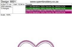 Simple Heart Applique Design Product Image 3