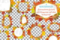 Fall leaves golden geometric frame templates. Autumn wedding Product Image 3