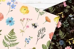 Spring Floral Digital Papers Watercolor Cute Pattern Product Image 5