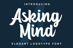 Asking Mind - Logotype Font Product Image 1