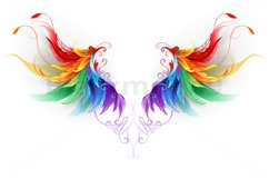 Fluffy Rainbow Wings Product Image 1