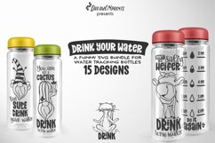 Water Bottle Tracker SVG Bundle | Drink Your Water Product Image 1