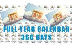 Full calendar. 366 days in separate jpg. Product Image 1
