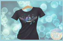 Sea Turtle Mandala Swimming with Bubbles SVG Product Image 5