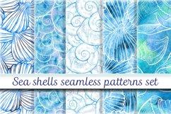 Sea shells seamless patterns set Product Image 1