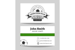 Soccer club business card Product Image 1