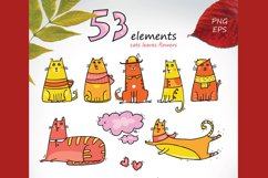 Autumn Cats - clip-art collection, patterns, frames Product Image 2