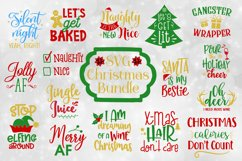 Funny Christmas Quotes Bundle - SVG, EPS, DXF, PNG Product Image 1