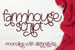 Farmhouse Script - Monoline With Alternatives Product Image 1