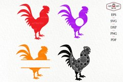 Cool rooster. Frame, monogram, silhouette. Product Image 1
