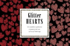 Valentine Digital Paper, Glitter Heart Pattern Product Image 6