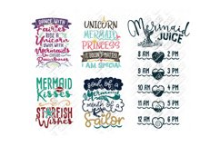 Mermaid SVG Bundle Quotes Sayings Monogram in SVG/DXF/PNG/JP Product Image 2