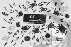 Black Flowers And Abstract Clipart Product Image 3