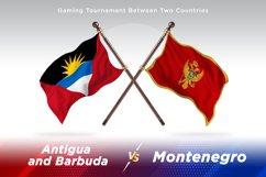 Antigua vs Montenegro Two Flags Product Image 1