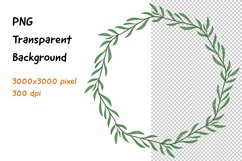 Wreath Frame Watercolor PNG and JPEG Product Image 1