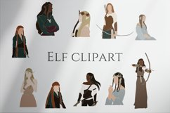 Elf clipart, abstract women, magic set, fairy creatures Product Image 1