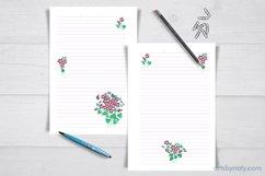 Violet flowers - printable KDP journal. Product Image 2