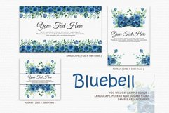 Bluebell - Digital Watercolor Floral Flower Style Clipart Product Image 4