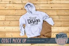 Mens white Gildan hoodie |Craft mock up Product Image 1