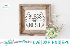 Bless Our Nest SVG, DXF, PNG, EPS Product Image 2